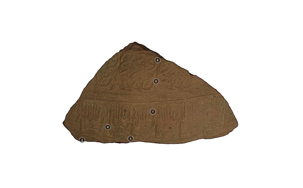 Fragmento de Talha com decoração Islâmica