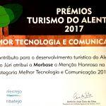 Morbase distinguida nos Prémios do Turismo do Alentejo e Ribatejo 2017